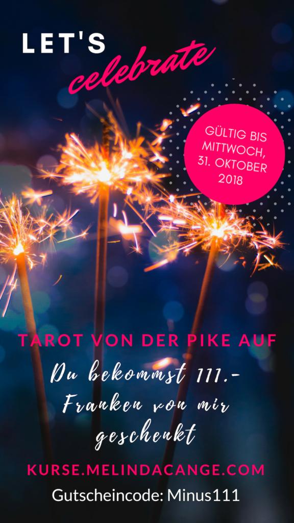 Tarot von der Pike auf, in 5 Wochen zur Tarot-Erkenntnis, Melinda Cange, Karten legen lernen, Tarotbedeutung, Mademoiselle Tarot, Tarotkarten verstehen, Jubiläumsgeschenke, 2. Jahre Selbständigkeit,