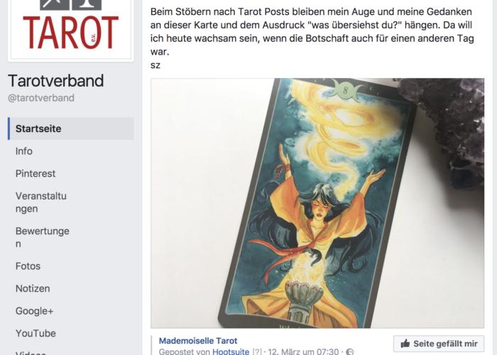 Tarotverband, Tarot e.V., Tarotverband Deutschland, Tarot Deutschland, Tarotverband Facebook, Tarot Facebook, PR für changelicious, PR changelicious, PR Mademoiselle Tarot, PR 2017,