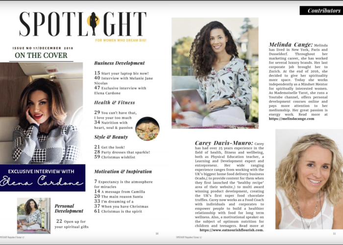 spotlight magazine, Melinda Cange, Presse, PR für Melinda Cange, Publikation Melinda Cange, Spirit Coach Melinda Cange, Mindset Metorin Melinda Cange, Soulful Marketing Coach Melinda Cange,