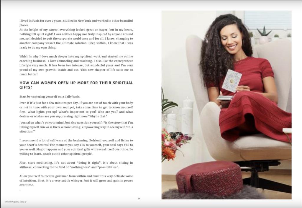 spotlight magazine, Interview Melinda Cange, Melinda Cange, Presse, PR für Melinda Cange, Publikation Melinda Cange, Spirit Coach Melinda Cange, Mindset Metorin Melinda Cange, Soulful Marketing Coach Melinda Cange,