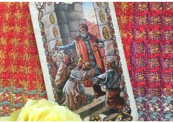 geld, herz chakra, Fülle,, Genuss und Geld-Flow, Genuss, Geldansichten, geld manifestieren, geldthemen, geben und nehmen, geben und empfangen, spirit coaching, tarotkurs, 6 der Münzen, mucha tarot, tarotkarten, tarotlernen, mademoiselle tarot, melinda cange