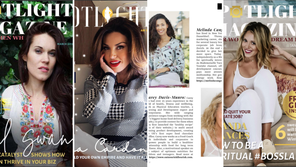 spotlight magazin, Melinda Cange, Presse, PR für Melinda Cange, Publikation Melinda Cange, Spirit Coach Melinda Cange, Mindset Metorin Melinda Cange, Soulful Marketing Coach Melinda Cange,